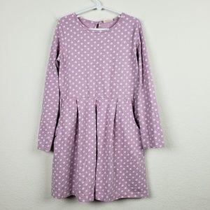 Mini Boden Lavender Polka Dot Dress 7-8Y